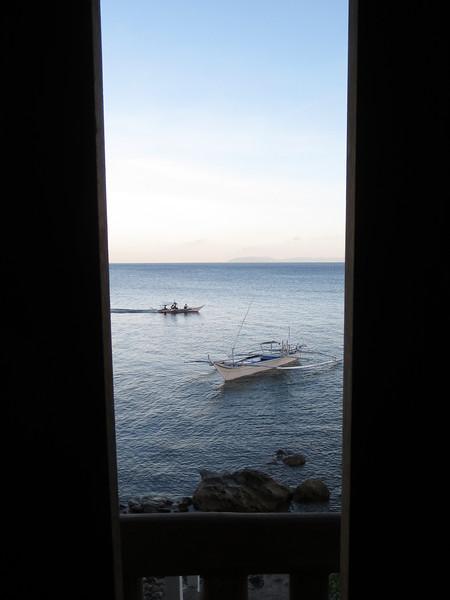 Morning boat traffic at Club-O