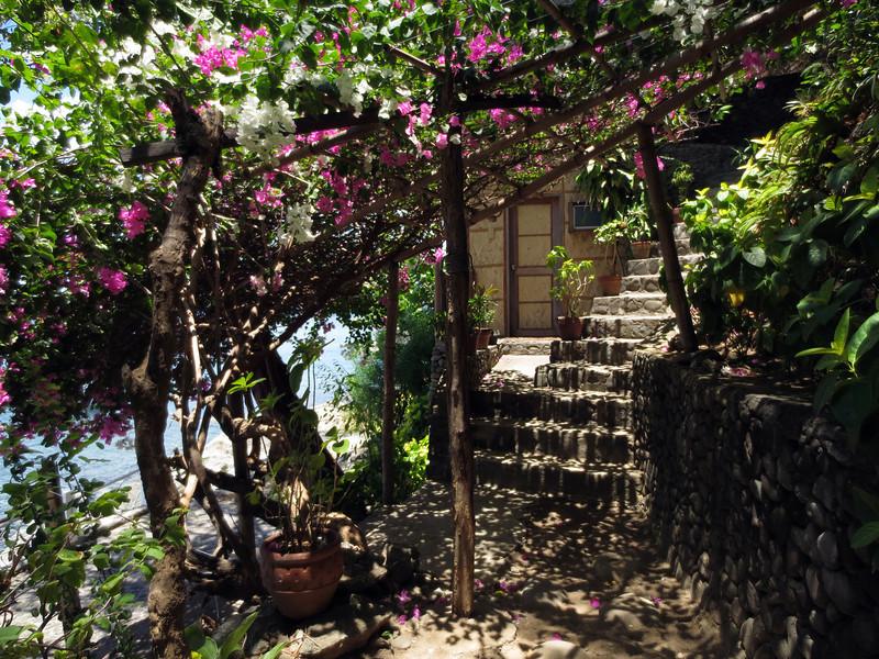Path to Single Room #1.<br /> Club-O, Anilao, Philippines.