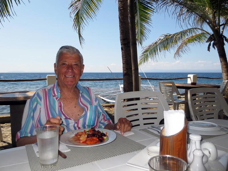Dr. Elias Amador enjoys lunch at Club-O.