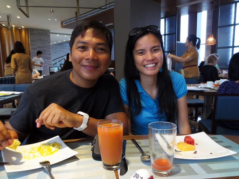 Peri, with his bride, Mau aka Maureen.<br /> Manila, Philippines.