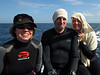 Carissa Shipman & two newbies to Asia diving.