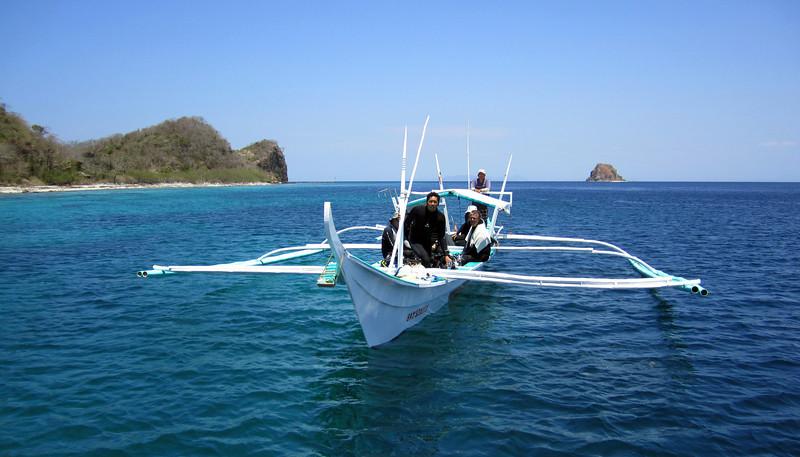 Alexis & crew coming in from Sombrero<br /> Anilao, Philippines