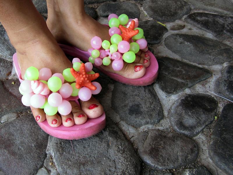 UW Footware, modeled by Joanne<br /> Club-O<br /> Anilao, Philippines