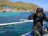 Francesco gearing up for nudie dive<br /> Bethlemen<br /> Anilao, Philippines