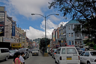 Shot of a busy street in Baguio, Philippines