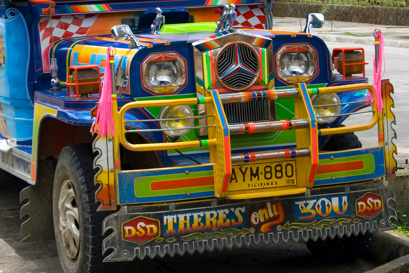 Detailed and colorful grill in front of jeepney - Philippines
