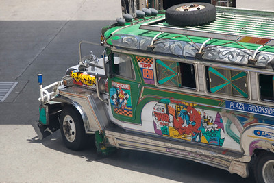 Close-up of jeepney in Baguio, Philippines