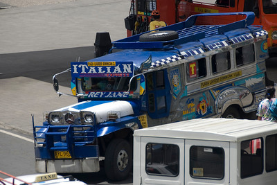 Jeepney setting out from the terminal in Baguio, Philippines