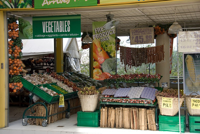 Fresh fruits and vegetables at a market in Baguio, Philippines