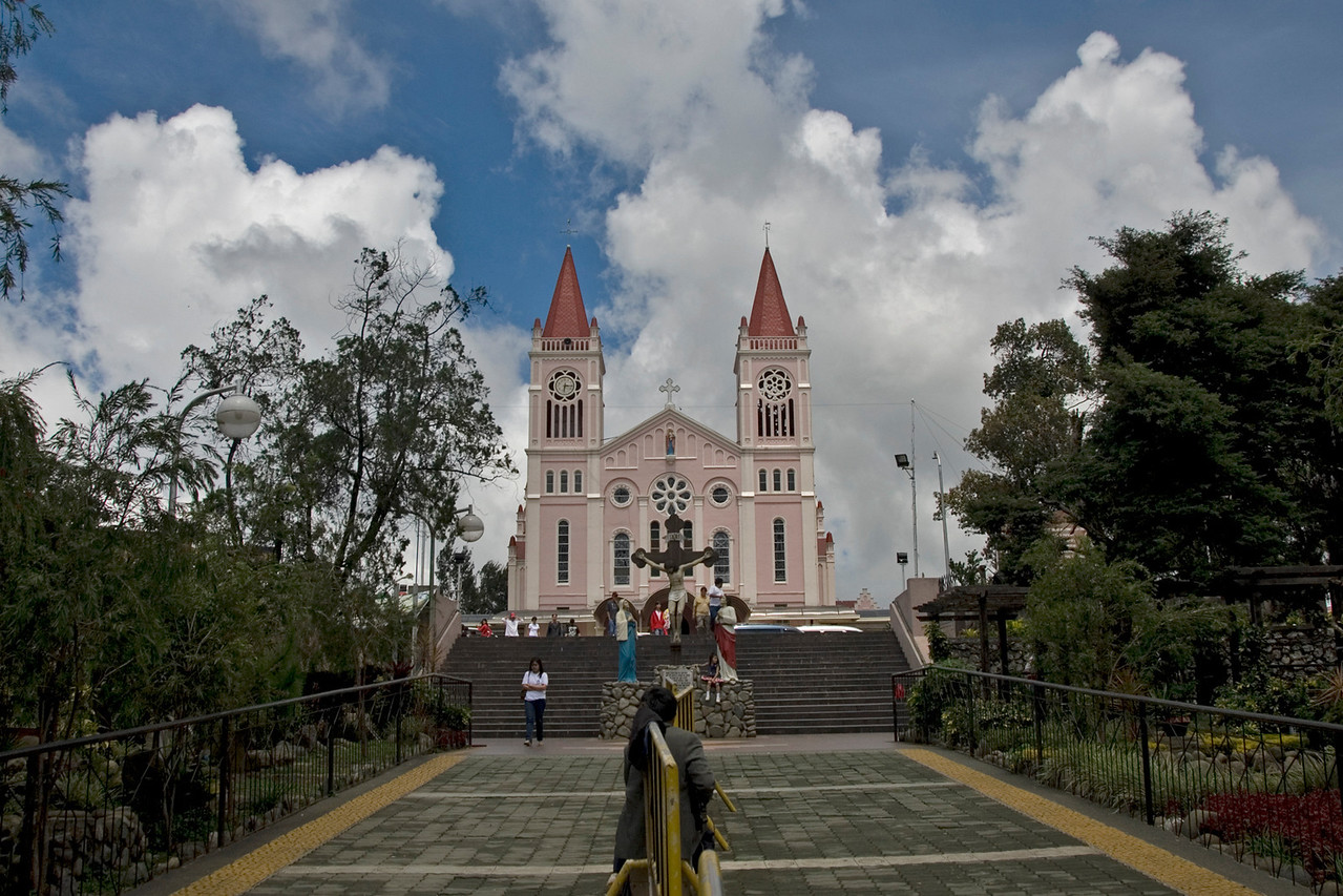 Path and steps leading to the Bagiuo Cathederal in the Philippines