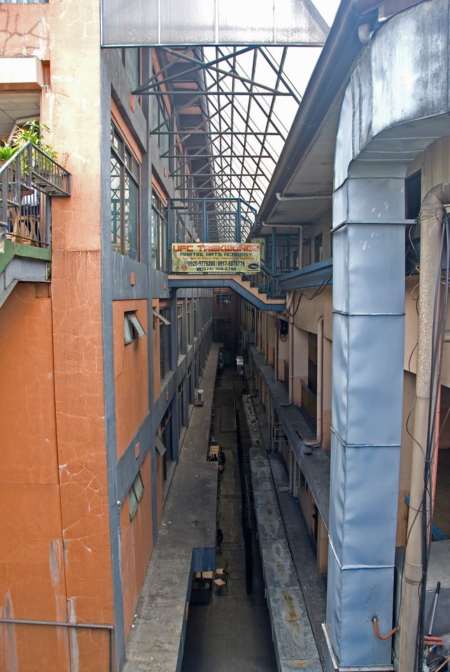 Looking down on a narrow alley in Baguio, Philippines