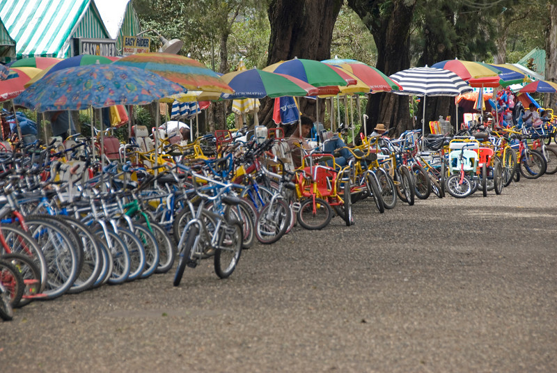 Bikes for rent in Burnham Park in Baguio, Philippines