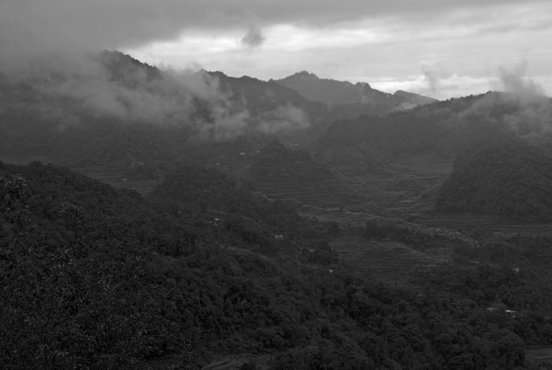 Clouds over mountains at Banaue Rice Terraces - Philippines