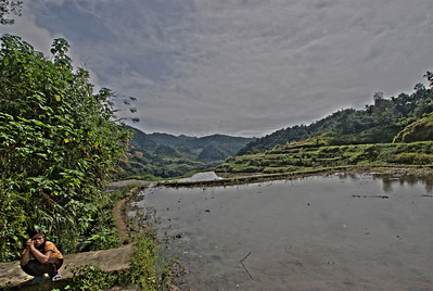 At the banks of Banaue Rice Terraces in Banaue, Philippines