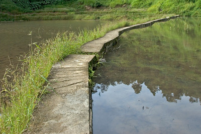 Concrete path in the Banaue Rice Terraces - Banaue, Philippines