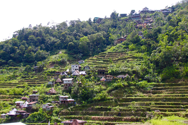 view up from Batad village