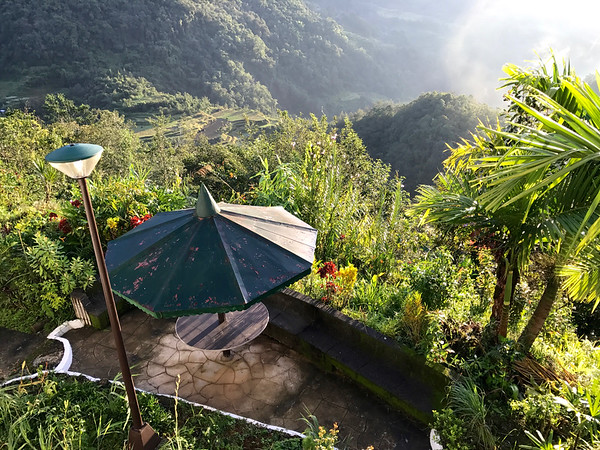 view from my room at the Banaue Hotel and Youth Hostel