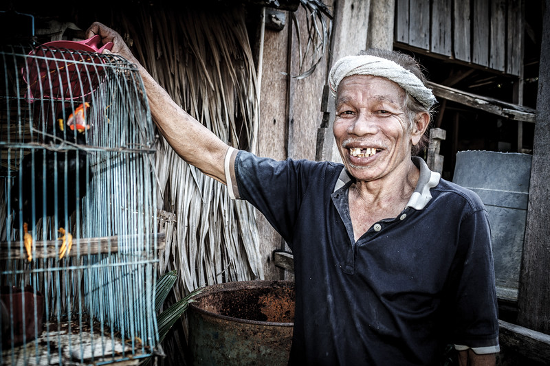 Yet another touching portrait of an old villager.