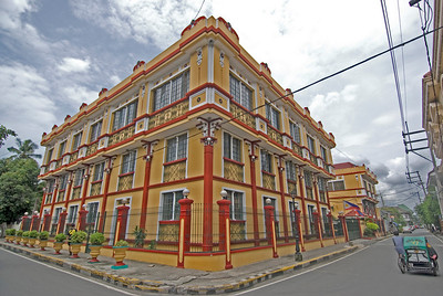 Enhanced shot a street corner in Intramuros, Manila