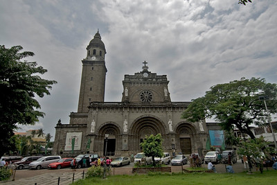 Facade of the Manila Cathedral at day - Manila