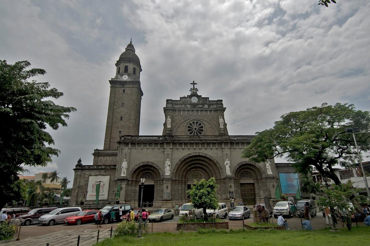 Facade of the Manila Cathedral at day - Manila