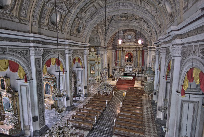 The beautiful interior of San Agustin Chruch in Manila, Philippines