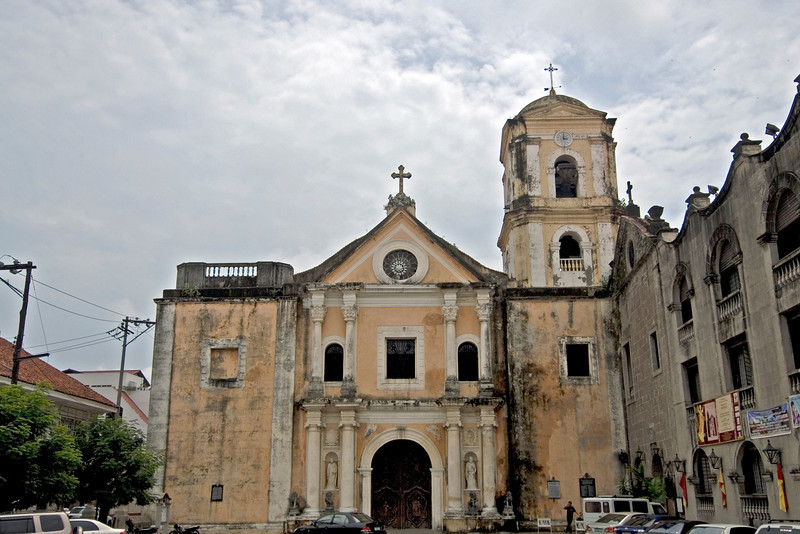 The facade of St. Augustine's Church in Manila, Philippines