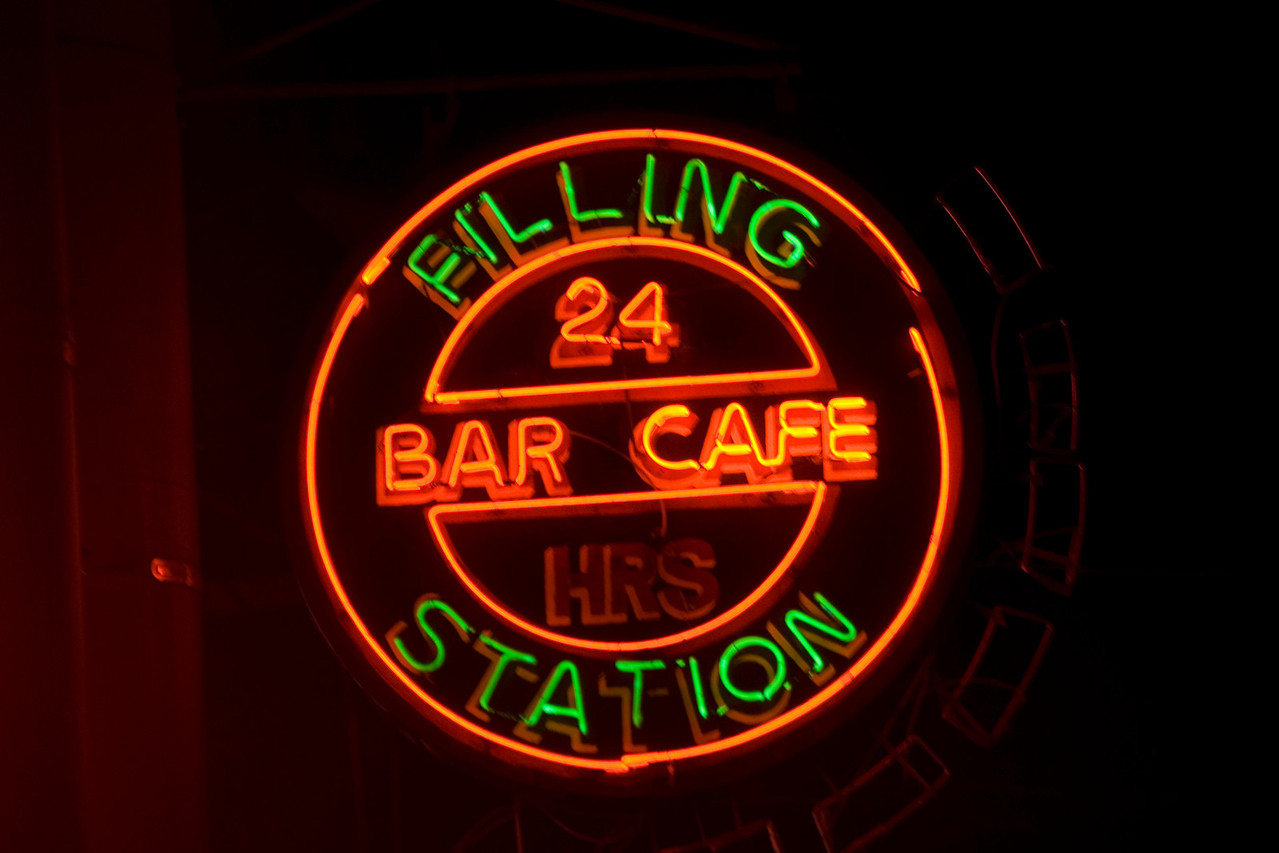 Neon sign outside a cafe in Manila, Philippines