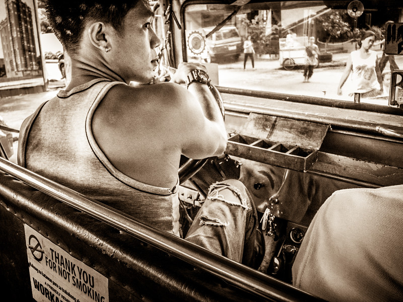 Life scene in the popular jeepney.