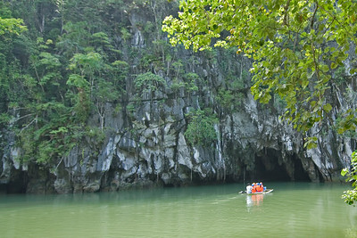 Wide view of the Underground River Cave entrance - Palawan, Philippines