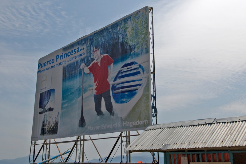Puerto Princesa city major political sign - Palawan, Philippines