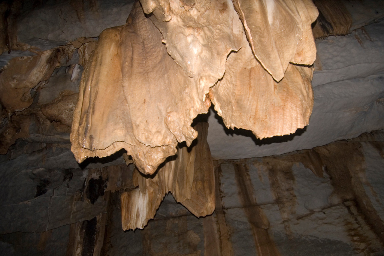Stalactite Formation on the cave ceiling - Palawan, Philippines