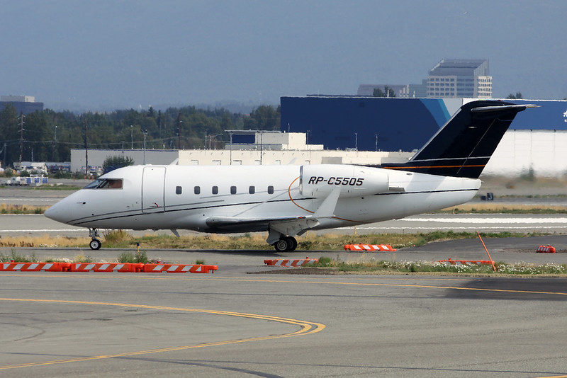 RP-C5505 Bombardier 600S Challenger c/n 1073 Anchorage-International/PANC/ANC 10-08-19