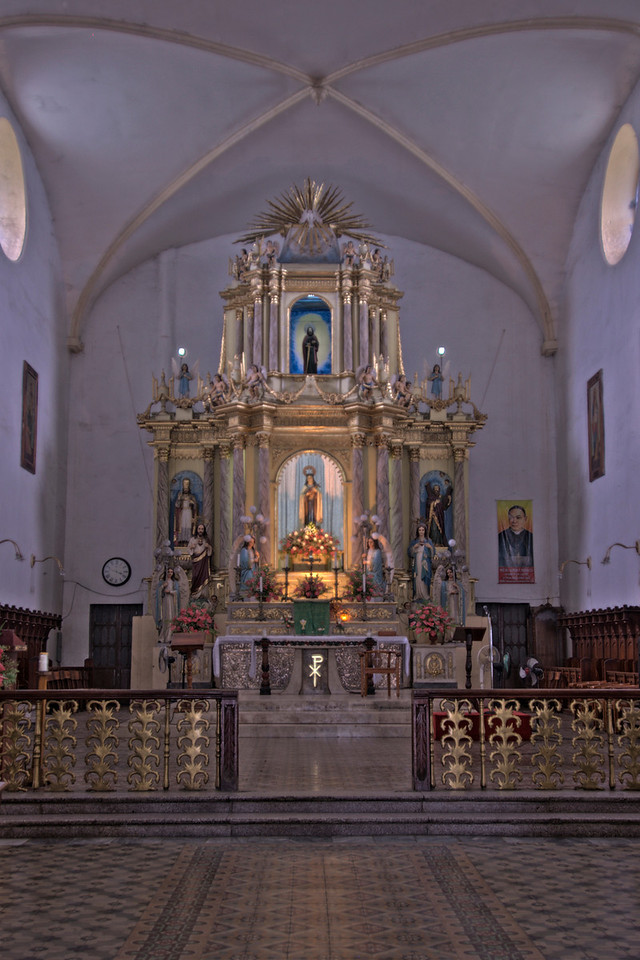 The altar at Vigan Cathedral, Vigan, Philippines