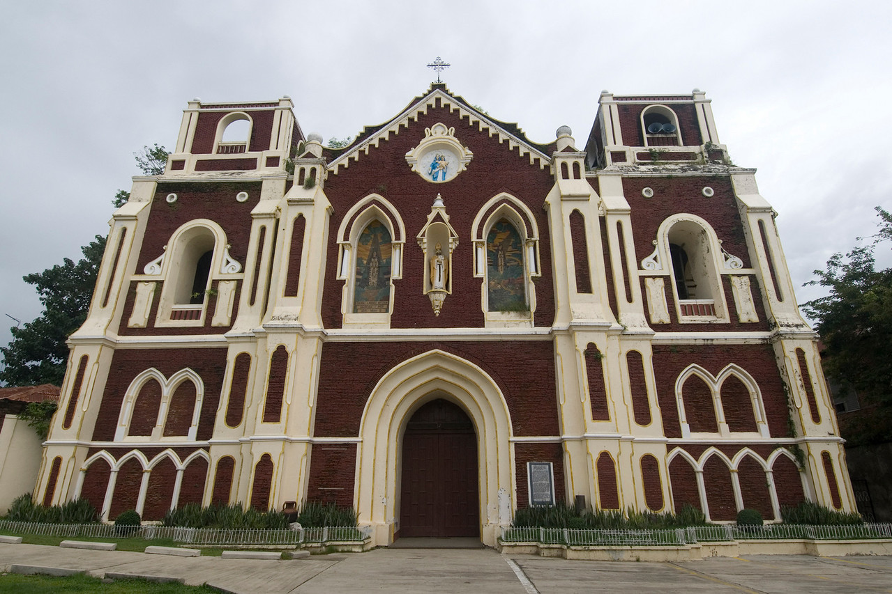 Front view of the St Augustine's Parish facade - Vigan, Philippines