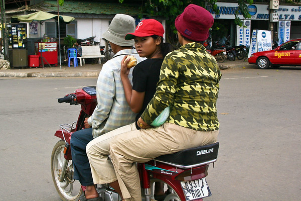 Khmer Girl on Scooter