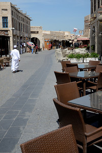 The Souk Waqif (market)...I am one of few who walked in the midday sun!