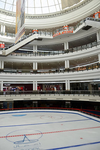 The indoor skating rink at the mall...