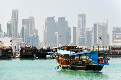 A dhow in Doha Bay