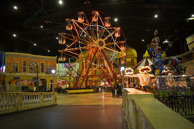 Oh...and there's an amusement park in the mall too!