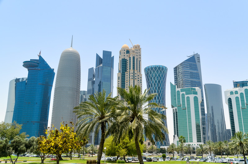 Doha West Bay skyline