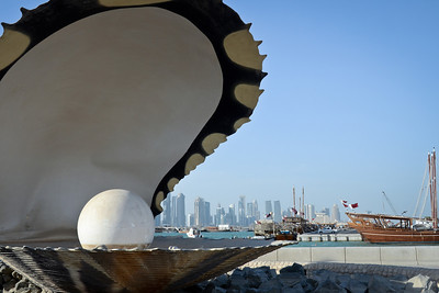 The giant pearl on the corniche...