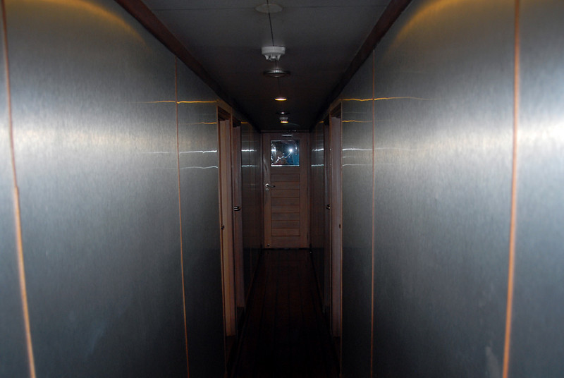 Hallway to cabins
