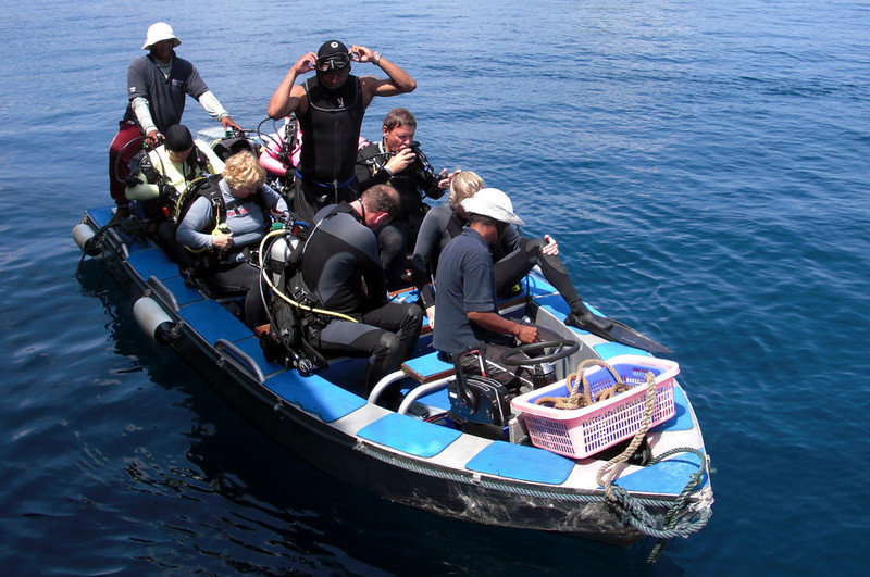 Getting geared up for diving