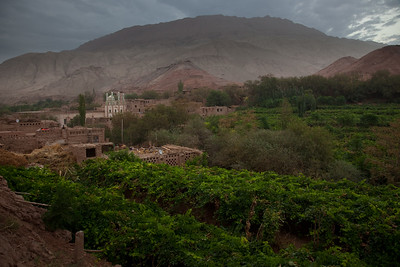 Tuyoq, Xinjiang, China - September 18,2009: The grape producing Uyghur village of Tuyoq nestled in a valley near the Flaming Mountains is an important pilgrimage site for Muslims. (Photo by: Christopher Herwig)