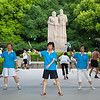 Shanghai, China - September 3, 2009:  Early morning exercise, including Tai Chi in Fuxing Park. (Photo by: Christopher Herwig)