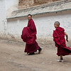 Tibetan monks at the Labrang Monastery, one of largest Tibetan Monasteries outside of Tibet.