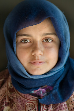 Sarouj, Syria - January, 2008: Portait of a young girl in the village of Sarouj, Syria. (Photo by Christopher Herwig)