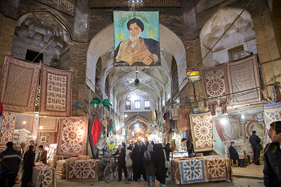 Esfahan, Iran - February, 2008: Bazar-e Bozorg (Great Bazaar) is a massive covered bazaar off of Imam Square in Esfahan, Iran parts of which datie back almots 1300 years. (Photo by Christopher Herwig)