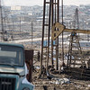 Baku, Azerbaijan - February 2008:  Since 1872, the area in and around Baku has been dominated by the oil industry, as evident by the countless oil pumps and drilling rigs that crowd the landscape. <br /> (Photo by Christopher Herwig)